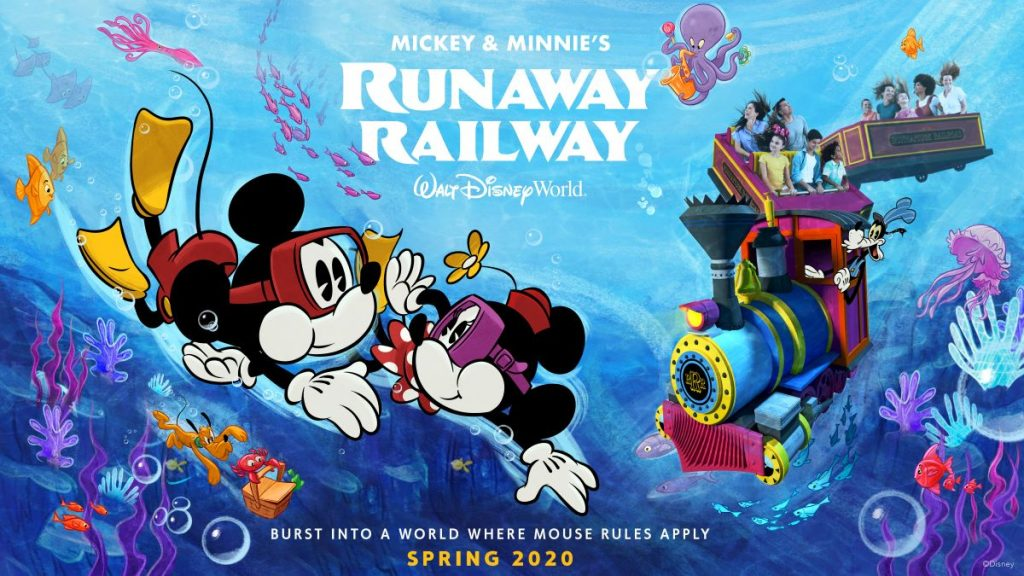 Mickey & Minnie's Runaway Railway Opens March 4, 2020