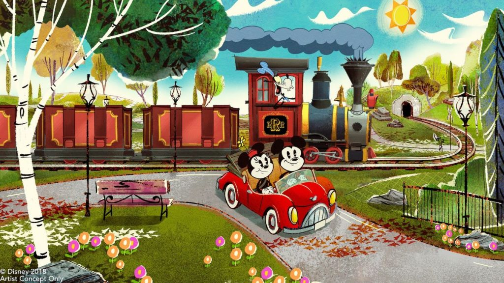Mickey and Minnie runaway railway
